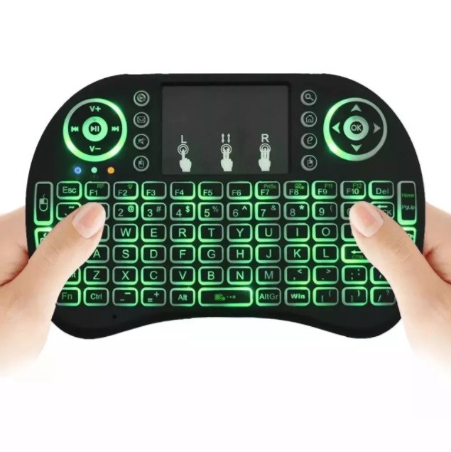Mini Teclado Led Wireless Keyboard Mouse Smart Tv Samsung Lg