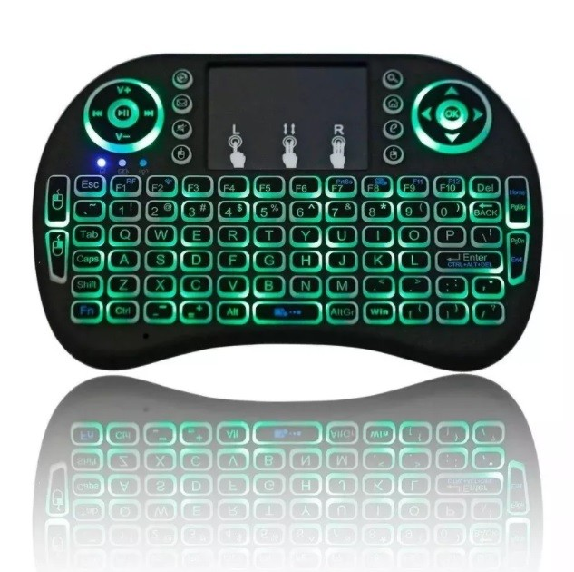 Mini Teclado Led Wireless Keyboard Mouse Smart Tv Samsung Lg