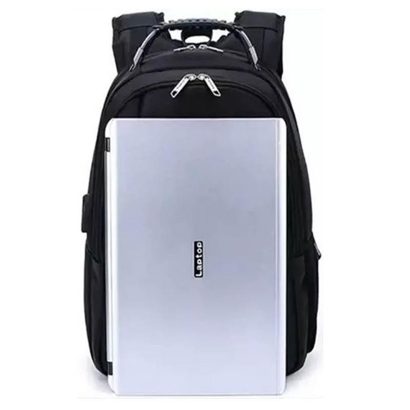 Mochila Unissex Usb Resistente A Chuva Compartimento Para Notebook