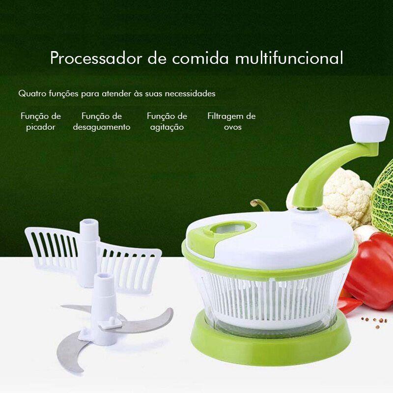 Multiprocessador Picador Manual Manivela De Alimentos Find Back