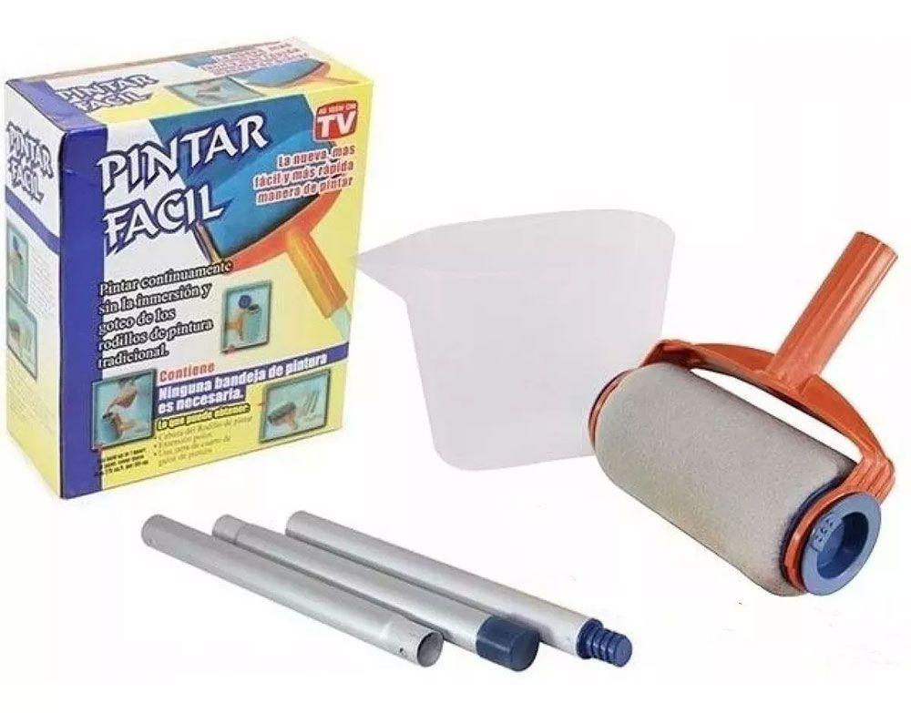 Pintar Fácil Kit Rolo De Pintura Em Espuma Inteligente Parede