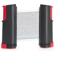 Rede Retrátil com 1,60 m + 2 Raquetes E 3 Bolas Para Ping Pong - Tênis de Mesa