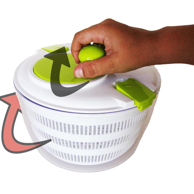Secador De Saladas Grande Verduras Legumes Centrífuga Manual