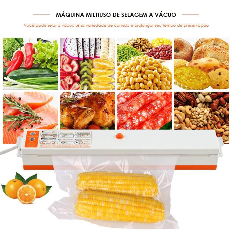 Seladora Vacuo Eletrica Embalador Termica Alimento 110v