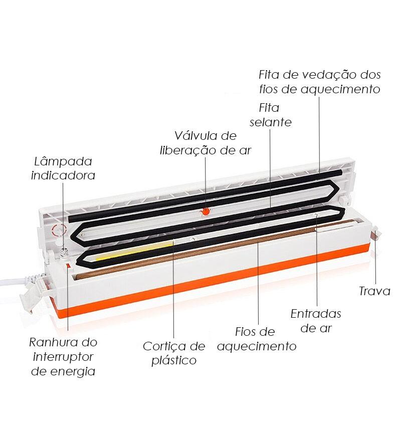 Seladora Vacuo Eletrica Embalador Termica Alimento 220v