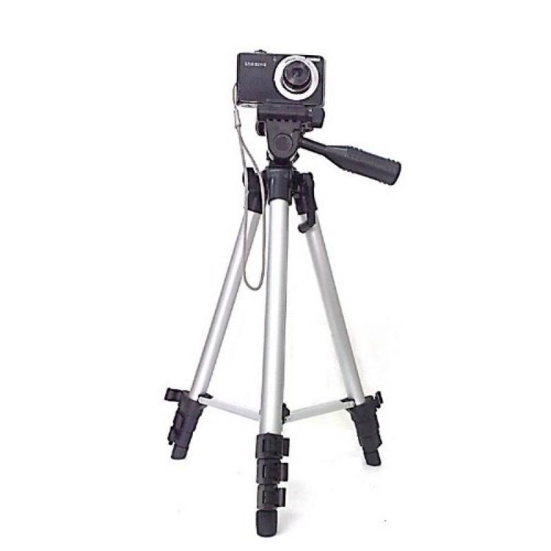 Tripé Em Alumínio P/máquina Fotográfica,altura Até 120cm