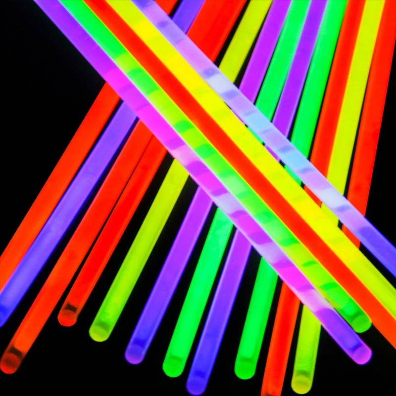 Tubo De Pulseiras Neon Com 100 Unidades Para Festa