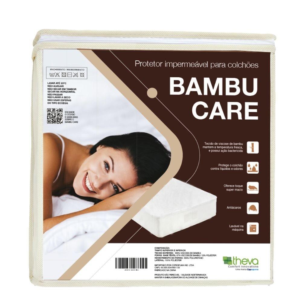 Protetor De Colchão Impermeável Casal Bambu Care Theva