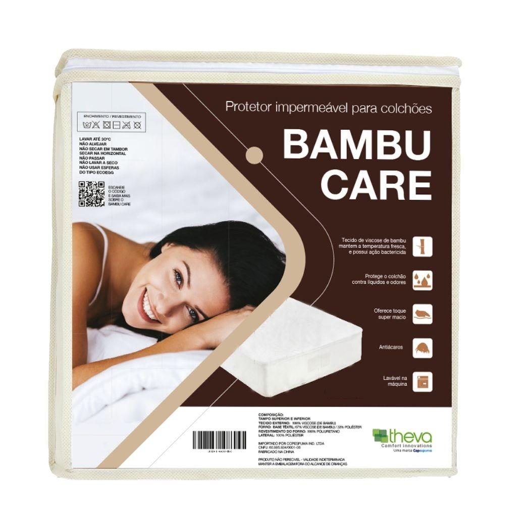 Protetor de Colchão Impermeável Solteiro Bambu Care