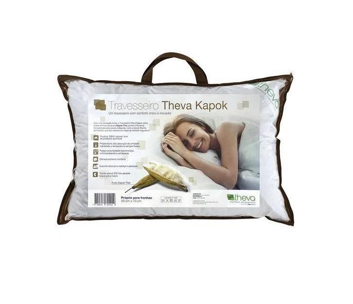 Travesseiro Theva Kapok (paineira) 100% Natural 50x70cm