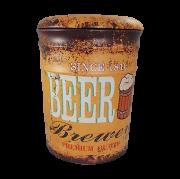Banqueta Gold Beer Grande em Metal com Abertura 38x30cm