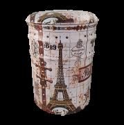 Banqueta Paris Pequena de Metal com Abertura 35x25cm