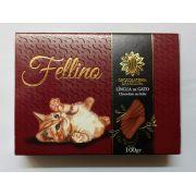 Caixa de Chocolate ao Leite Língua de Gato 100g