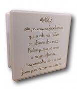 Caixa Organizadora Madeira Mdf sem Repartição Pequena Amigos