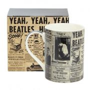 Caneca Cerâmica 460ml Beatles Jornal