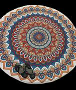 Canga Redonda Atoalhada Modelo Mandala Colorida
