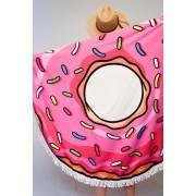 Canga Redonda Toalha Modelo Donuts