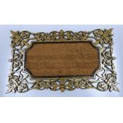 Capacho em Fibra de Coco e Borracha Dourado - 45cmx75cm
