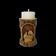 Castiçal Sagrada Família com Vela