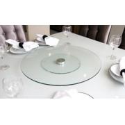 Centro De Mesa Giratório Com Vidro Temperado 45cm - Bon Gourmet