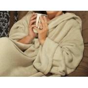 Cobertor com Manga Bege