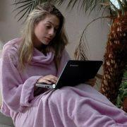 Cobertor com Manga Lilas