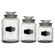 Conjunto de 3 Potes de Vidro com Tampa Hermética