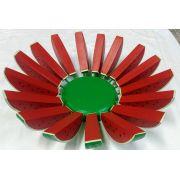 Fruteira de Madeira Melancia 36x36cm