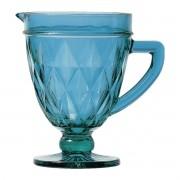 Jarra de Vidro Modelo Diamante Azul 1 Litro