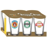 Jogo 6 Copos Boteco Cervejas Brasil 200ml - H-Martin