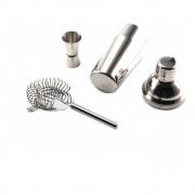 Kit Coqueteleira Inox 550ml Coador E Dosador Duplo