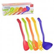 Kit de Utensílios de Cozinha Coloridos 5 pcs