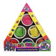 Massinha Coloridas Triangulo 6 Peças