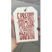 Placa com Frases Porcelana