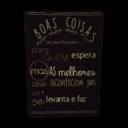 Placa de Madeira Boas Coisas 40x60cm