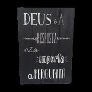 Placa de Madeira Deus é a Resposta 30x40cm