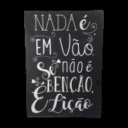 Placa em Madeira Frases Nada é Em Vão 40cmx60cm