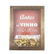 Quadro Decorativo Porta Rolhas de Vinho Pequeno
