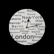 Relógio De Parede Países 30cm