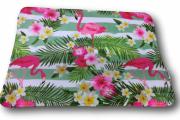 Tapete Antiderrapante Flores  e Flamingos 40x60cm