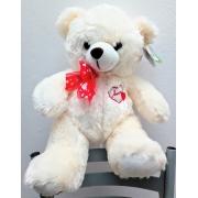 Urso Pelúcia Bordado Amor 30cm - Fizzy