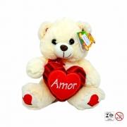 Urso Pelúcia Coração 24cm - Fizzy