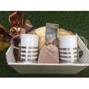 Xícaras de Porcelana com Suporte de Inox (Acompanha nosso Cappuccino)