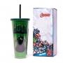 Copo canudo Hulk 650ml - Zona Criativa