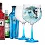 Jogo 2 Taças Gin & Tônica com Haste Azul 705ml -  Ruvolo