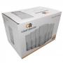 Jogo 6 Copos de Vidro Transparente 350ml - Casa Ambiente