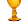 jogo 6 taças de vidro Âmbar Folha 350ml - Casambiente