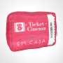 Kit Pipoca Almofada Ticket Cinema