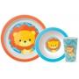 Kit Refeição Para Bebê 3 Peças Animal Fun - Buba