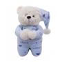 Urso que Reza Azul Pijama Pelúcia 30cm